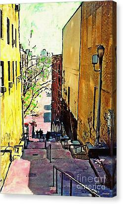 Steps At 187 Street Canvas Print