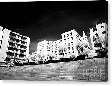 Steps In Marseille Canvas Print by John Rizzuto