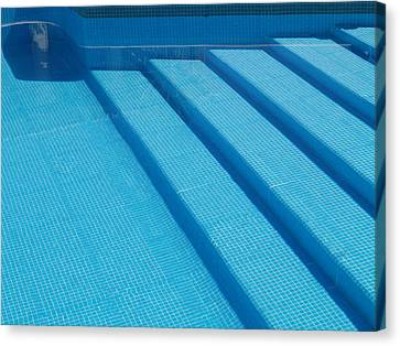 Canvas Print featuring the photograph Steps In The Pool by Michael Canning