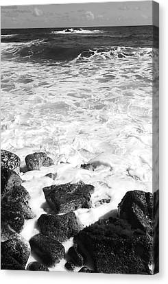 Steps In To The Sea Canvas Print by Kerri Ligatich
