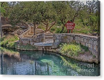 Canvas Print featuring the photograph Steps Leading To The Blue Hole by Sue Smith