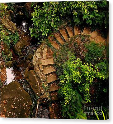 Steps Leading Up The Stairway To Heaven Canvas Print