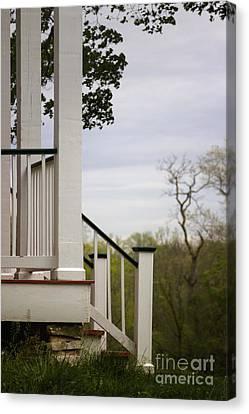 Side Porch Canvas Print - Steps by Margie Hurwich