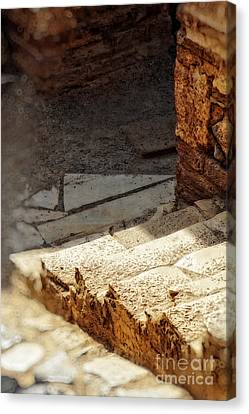Steps Of Ephesus Canvas Print by HD Connelly