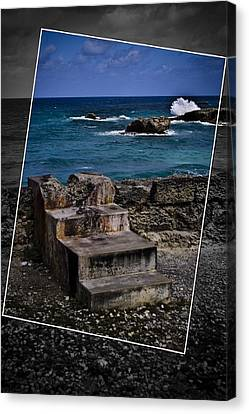 Steps To The Ocean2 Canvas Print by Ted Petrovits