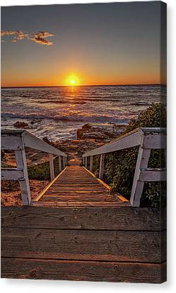 La Jolla Art Canvas Print - Steps To The Sun  by Peter Tellone