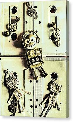 Cassettes Canvas Print - Stereo Robotics Art by Jorgo Photography - Wall Art Gallery