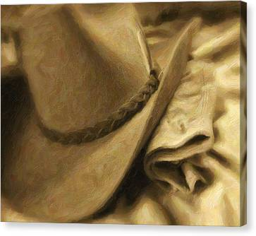 Stetson Canvas Print by Tom Mc Nemar