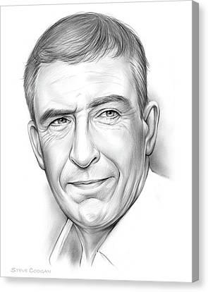 Steve Coogan Canvas Print by Greg Joens