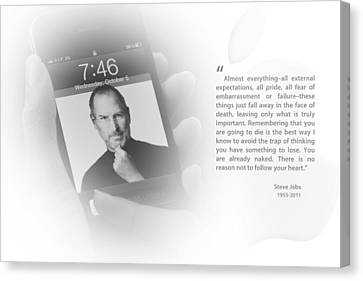 Steve Jobs 3 Canvas Print