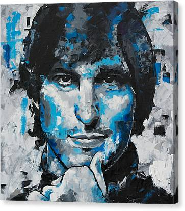 Canvas Print featuring the painting Steve Jobs II by Richard Day