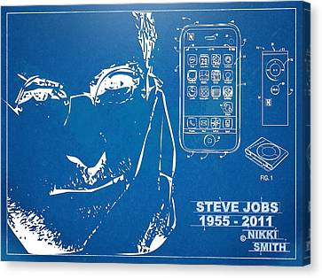 Steve Jobs Iphone Patent Artwork Canvas Print by Nikki Marie Smith