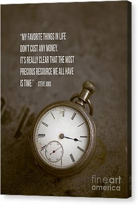 Brown Tones Canvas Print - Steve Jobs Time Quote by Edward Fielding