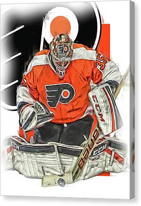 Steve Mason Philadelphia Flyers Oil Art Canvas Print by Joe Hamilton