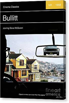 Steve Mcqueen,  Bullitt Movie Poster Canvas Print