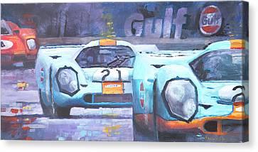 Steve Mcqueen Le Mans Porsche 917 01 Canvas Print by Yuriy Shevchuk