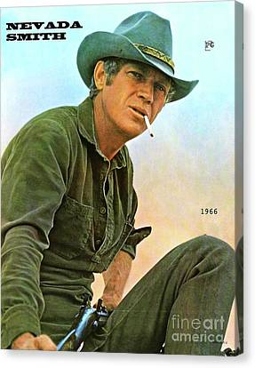 Steve Mcqueen, Nevada Smith Canvas Print