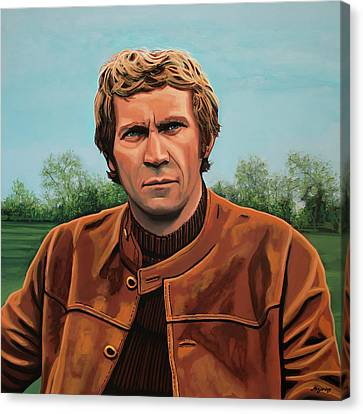 Steve Mcqueen Painting Canvas Print by Paul Meijering