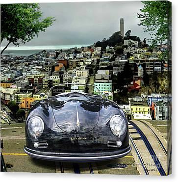 Steve Mcqueen's 58' Porsche 356 1600 Speedster, Telegraph Hill, San Francisco, Ca Canvas Print
