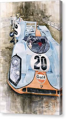 Steve Mcqueens Porsche 917k Le Mans Canvas Print by Yuriy  Shevchuk