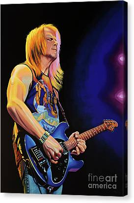 Steve Morse Painting Canvas Print by Paul Meijering