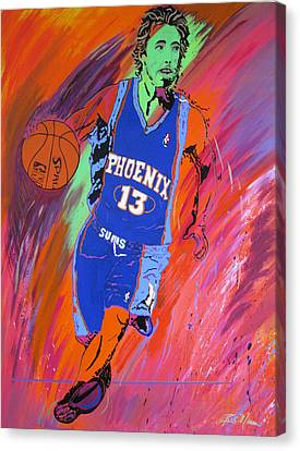 Canvas Print - Steve Nash-vision Of Scoring by Bill Manson