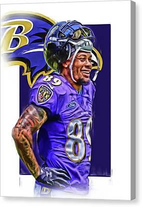 Steve Smith Sr Baltimore Ravens Oil Art Canvas Print