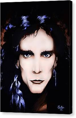 Canvas Print featuring the painting Steve Vai by Curtiss Shaffer