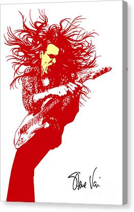Steve Vai No.01 Canvas Print by Caio Caldas