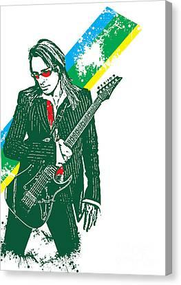 Steve Vai No.02 Canvas Print by Caio Caldas