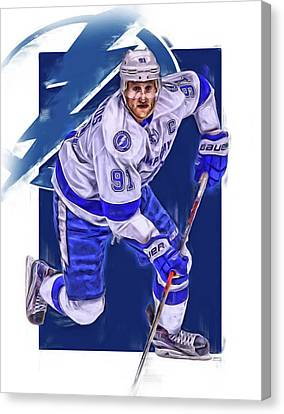 Steven Stamkos Tampa Bay Lightning Oil Art Series 1 Canvas Print