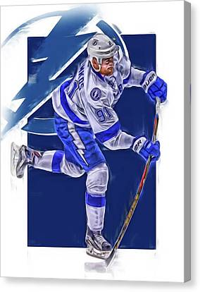 Steven Stamkos Tampa Bay Lightning Oil Art Series 3 Canvas Print