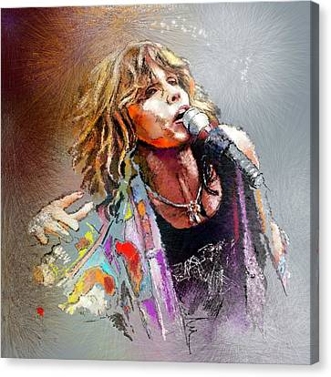 Steven Tyler 02  Aerosmith Canvas Print by Miki De Goodaboom