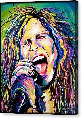 Steven Tyler Canvas Print by Amy Belonio