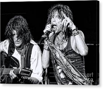 Steven Tyler Croons Canvas Print by Traci Cottingham