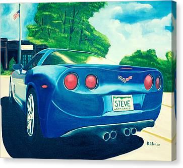 Steve's Corvette Canvas Print