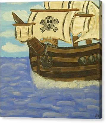 Steve's Spooky Ship Canvas Print by Eva  Dunham