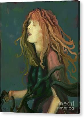 Stevie Nicks Canvas Print by Carrie Joy Byrnes