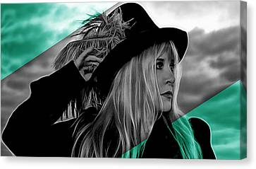 Stevie Nicks Collection Canvas Print by Marvin Blaine