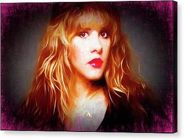 Stevie Nicks Drawing Canvas Print