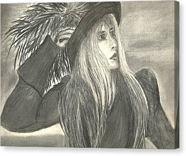 Stevie Nicks Canvas Print by Gina Cordova