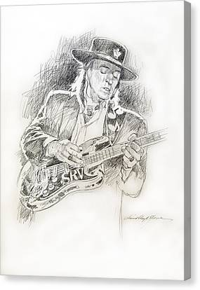 Stevie Ray Vaughan - Texas Twister Canvas Print by David Lloyd Glover