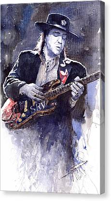 Stevie Ray Vaughan 1 Canvas Print by Yuriy  Shevchuk