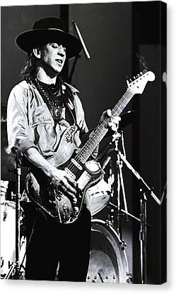 Stevie Ray Vaughan 1984  Canvas Print by Chris Walter