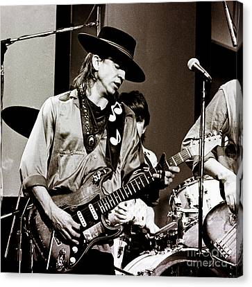 Stevie Ray Vaughan 3 1984 Canvas Print by Chris Walter