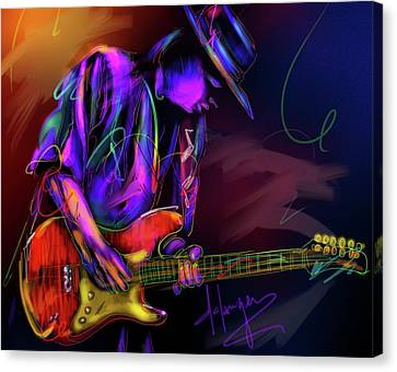 Stevie Ray Vaughan Canvas Print by DC Langer