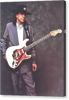 Grammy Winners Canvas Print - Stevie Ray Vaughan Mr Smooth by Donna Wilson