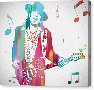 Stevie Ray Vaughan Music Man Canvas Print by Dan Sproul