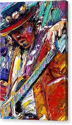Stevie Ray Vaughan Number One Canvas Print by Debra Hurd