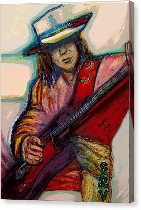 Stevie Ray Vaughan Canvas Print by Regina Brandt